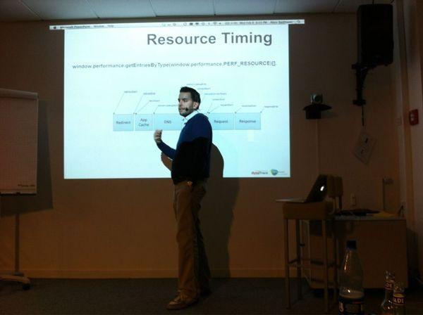 Alois Reitbauer auf dem Hamburg Web Performance Meetup