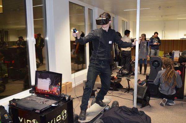 Skateboard en VR