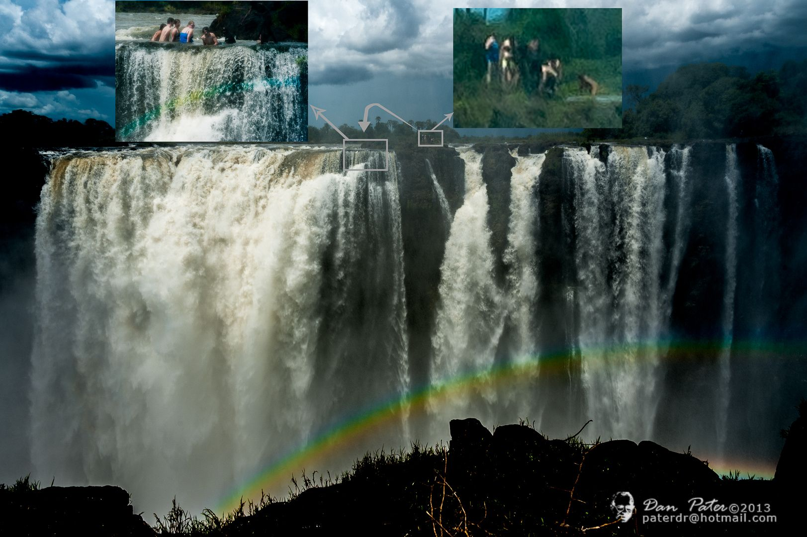 Zambia and zimbabwe postcard victoria falls and literally - Victoria park swimming pool price ...