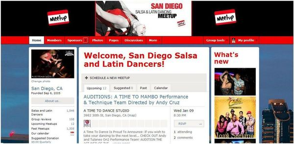 The San Diego Salsa and Latin Dancing Meetup Group
