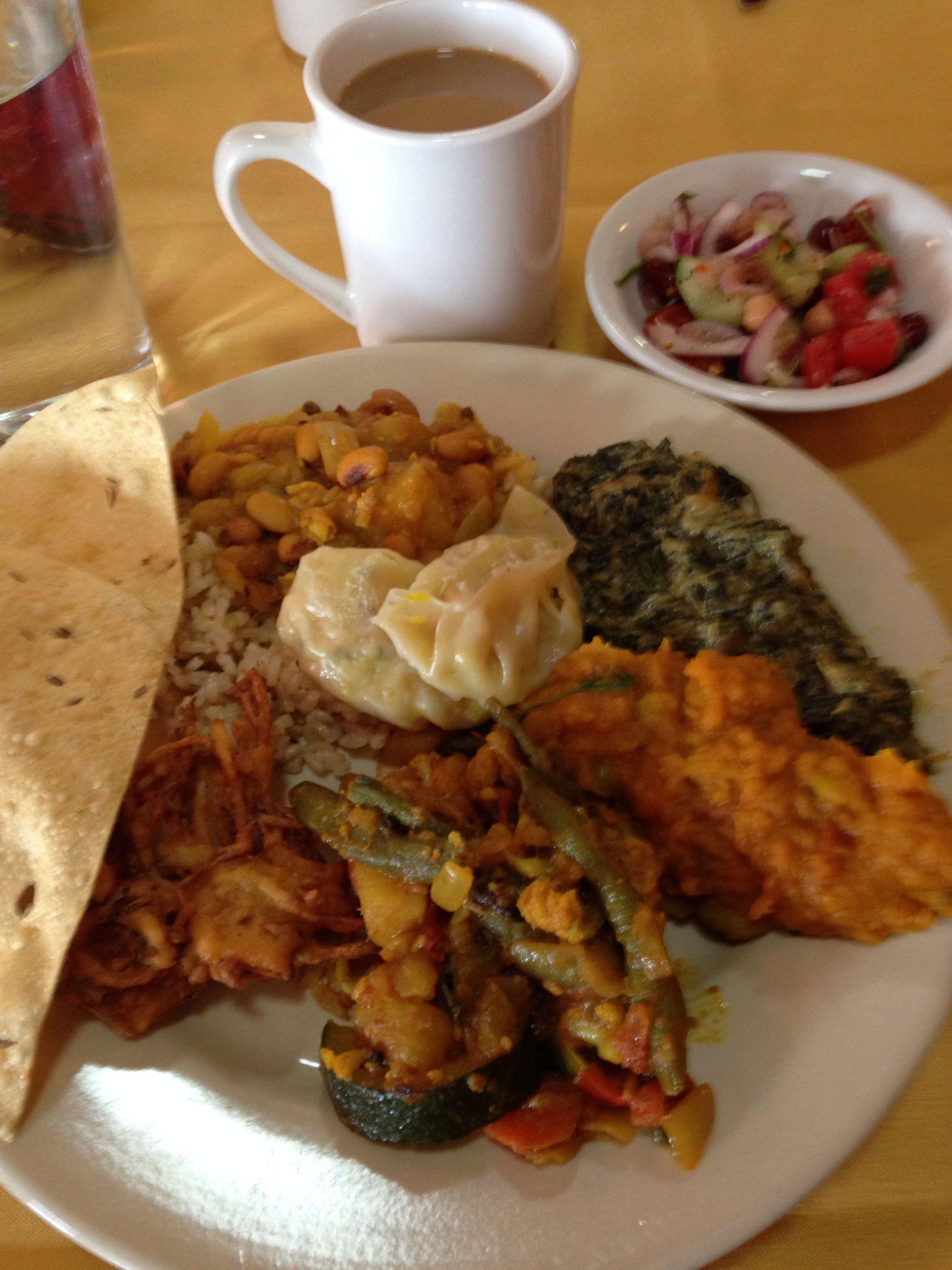 nepalese vegan monday lunch buffet, hostednepal cuisine
