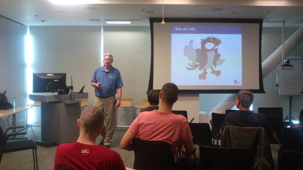 Patrick Curran speaking at BJUG
