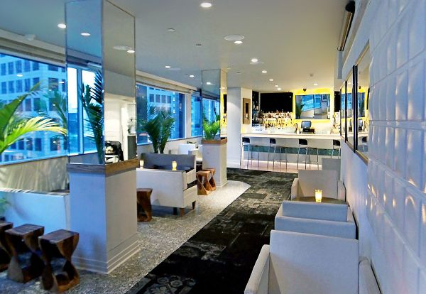 Veg night out drinks at the dream hotel 39 s ava lounge for Ava apartments new york