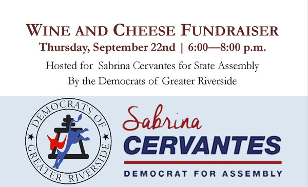 Fundraiser for Sabrina Cervantes, Candidate for the 60th District Assembly @ Canyon Crest Winery