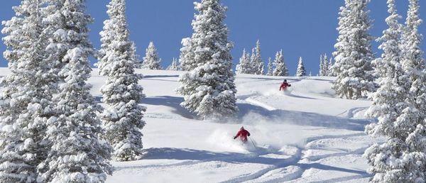 christmas mountain skiing
