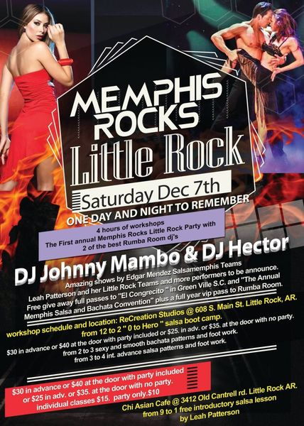 Memphis Rocks Little Rock Party Salsa Little Rock