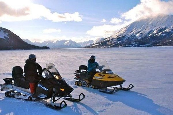 Aurora Borealis in Yukon and Canadian Rockies Winter Adventure starting at Canadian Rockies