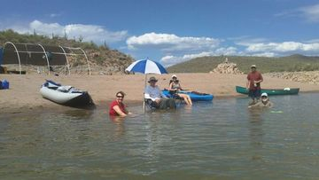 Arrive at the camping area for bartlett lake bash look for Bartlett lake fishing report