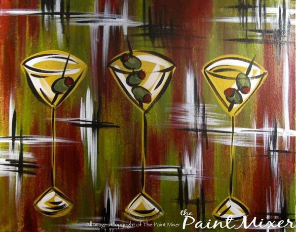 paint mixer drink wine or beer and paint with your