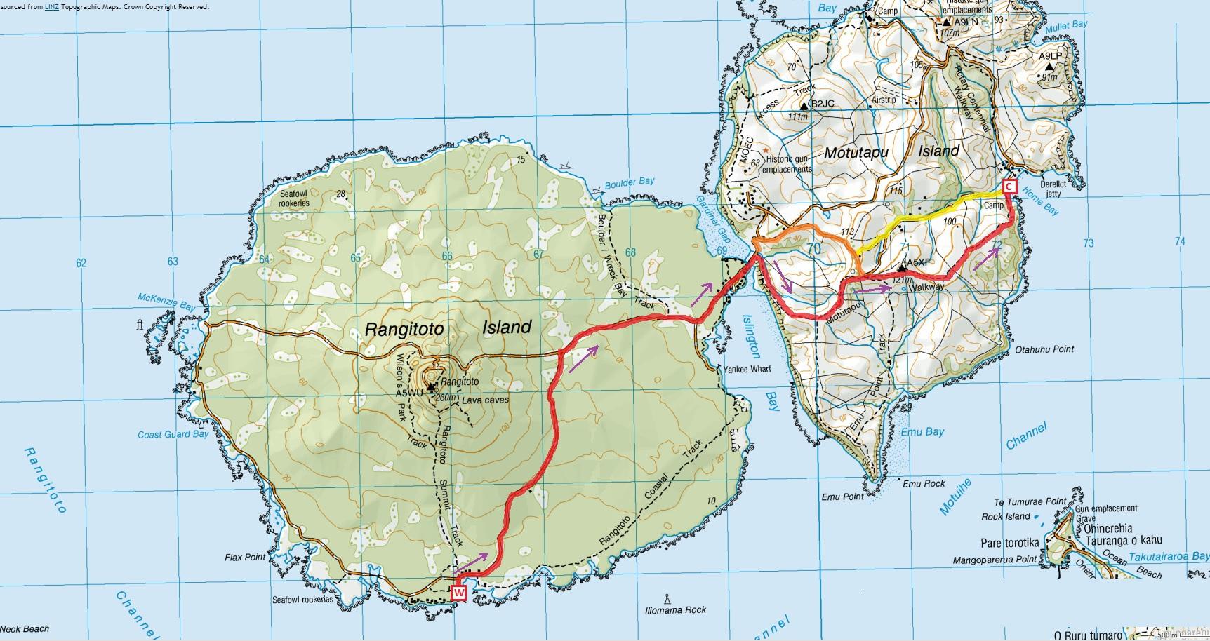 Resultado de imagen de Rangitoto Island track map
